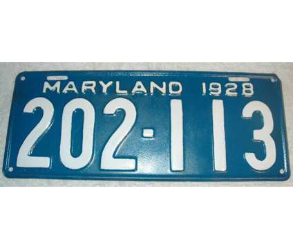 $75 EA-VINTAGE LICENSE PLATES - 1917New York, 1928Maryland,1940N is a Collectibles for Sale in Edgefield SC