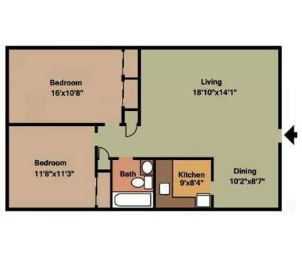 2 Beds - Park Lane and Park Hill at 7 Park Ln East in Albany NY is a Apartment