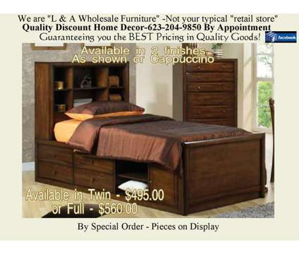 LARGE Storage Captains Bed in 2 finishes is a Beds for Sale in Glendale AZ