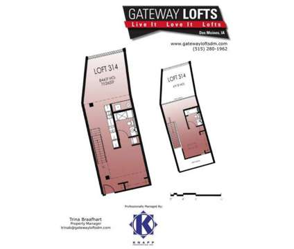 2 Beds - Gateway Lofts at 1719 Grand Ave in Des Moines IA is a Apartment