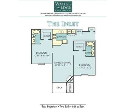 2 Beds - Waters Edge at 390 S Military Highway in Norfolk VA is a Apartment