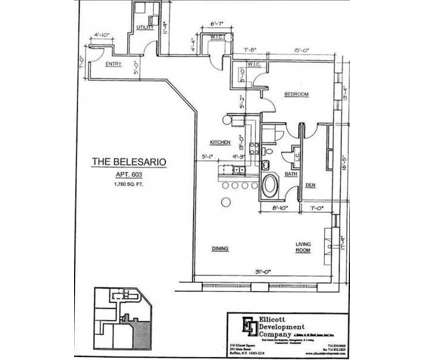 1 Bed - The Belesario and Bellasara at 514 Main St in Buffalo NY is a Apartment