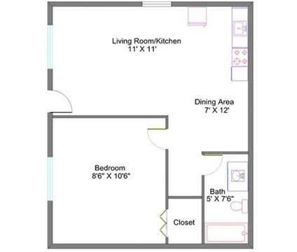 1 Bed - Park Place Apartments at 1401 East Bellows St in Mount Pleasant MI is a Apartment