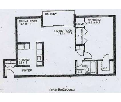 1 Bed - Reisterstown Square Apartments at 6609 Eberle Drive in Baltimore MD is a Apartment