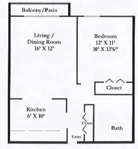 1 Bed - Park Forest