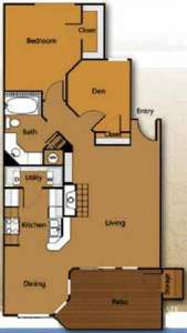 1 Bed - Waters Edge Apartment