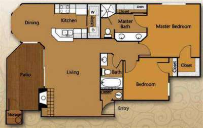 2 Beds - Waters Edge Apartment