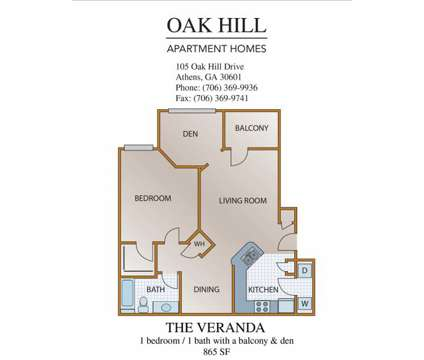 1 Bed - Oak Hill Apartments at 105 Oak Hill Dr in Athens GA is a Apartment