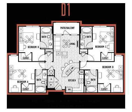 4 Beds - Domain at Columbia at 3100 East Stadium Blvd in Columbia MO is a Apartment