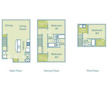 3 Beds - The Enclave at GVSU Student Living at 4926 Becker Dr in Allendale MI is a Apartment