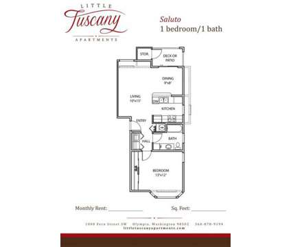 1 Bed - Little Tuscany Apartments - LUXURY LIVING at 1000 Fern St Sw in Olympia WA is a Apartment