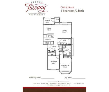 2 Beds - Little Tuscany Apartments - LUXURY LIVING at 1000 Fern St Sw in Olympia WA is a Apartment