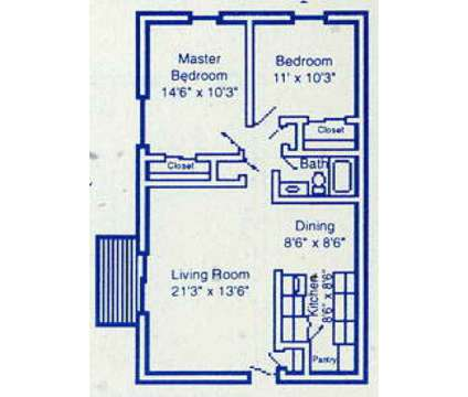 2 Beds - Four Seasons Apartments at 4222 New Rd in Youngstown OH is a Apartment