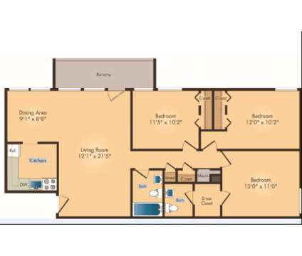 3 Beds - Seven Springs Apartments at 9310 Cherry Hill Rd in College Park MD is a Apartment