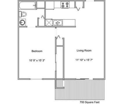 1 Bed - Deerfield at 901 Franklin Avenue in Council Bluffs IA is a Apartment