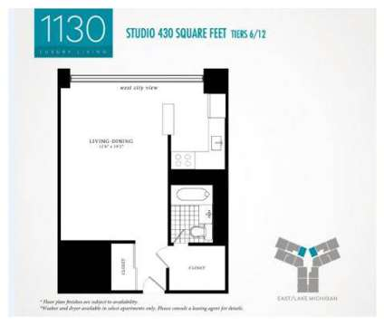 Studio - 1130 South Michigan Avenue at 1130 South Michigan Ave in Chicago IL is a Apartment