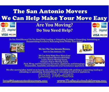 The San Antonio Movers is a Moving service in Leon Valley TX
