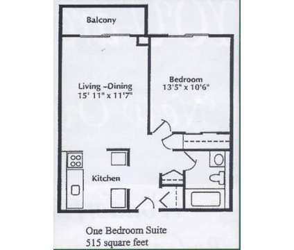 1 Bed - Center Line Park Towers Senior Apartments at 8033 East Ten Mile Rd in Center Line MI is a Apartment