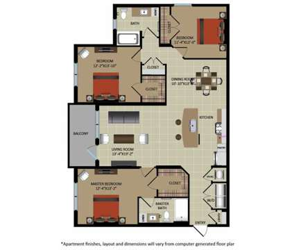 3 Beds - Gables Aventura at 20081 Ne 26th Avenue in Aventura FL is a Apartment