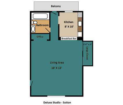 Studio - Sutton Apartments at 21 Harley Dr in Worcester MA is a Apartment