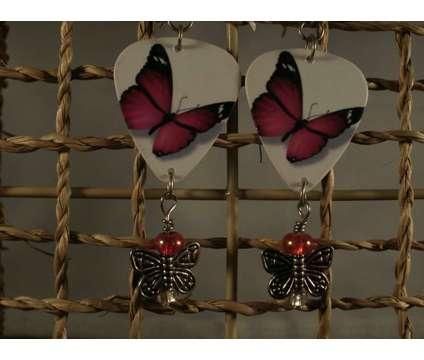 Butterfly Guitar Pick Earrings is a Earrings for Sale in Homosassa FL