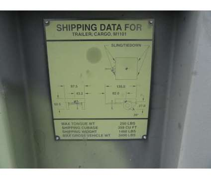 2005 Raytheon M1101 Military Cargo Trailer is a 2005 Heavy Equipment Vehicle in Miami FL