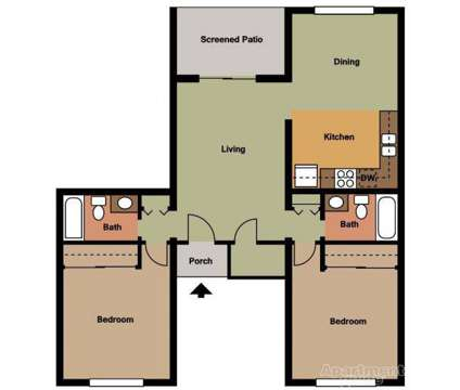 2 Beds - Outrigger Village at 1701 Mabbette St in Kissimmee FL is a Apartment