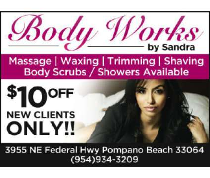 Massage, Waxing, Shaving, Trimming, Bodywscrub :[phone removed] is a Massage Services service in Pompano Beach FL