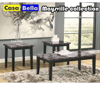 3pc. Coffee Table Set, very modern is a Black, Brown, Grey Coffee Tables for Sale in Chicago IL