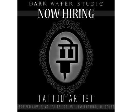 Tattoo Artist is a Contractor Tattoo Artist in Visual Art Job Job at Dark Water Studio in Willow Springs IL