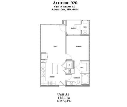 1 Bed - Altitude 970 at 6301 N Klamm Rd in Kansas City MO is a Apartment
