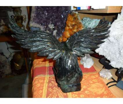 Exceptional and Beautiful VERY LARGE Antique Black Jade Eagle Statue is a Black Collectibles for Sale in New York NY