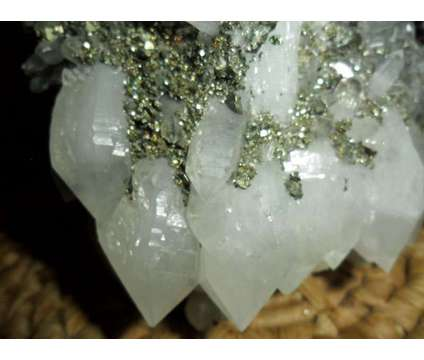 Exceptionally, Gorgeous and Beautiful Crystal Point Quartz Cluster and Pyrite on is a White Collectibles for Sale in New York NY