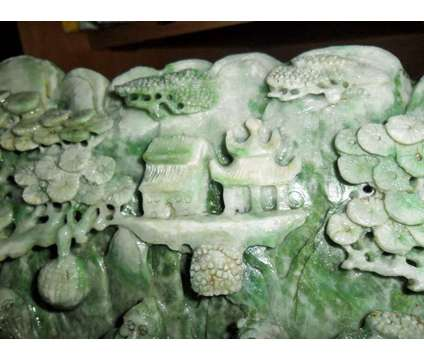 Beautiful and Exceptional Large Jadeite DuShan Jade Exceptionally Hand Carved Mo is a Brown, Green Collectibles for Sale in New York NY