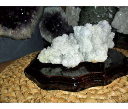 Exceptional and Beautiful Cactus Chalcedony Amethyst Flower Quartz Crystal Clust is a Grey Collectibles for Sale in New York NY