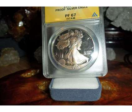Beautiful Proof American Silver Eagle Dollar {1990-S ANACS MS 67} Gold Tone Bot is a Coins for Sale in New York NY