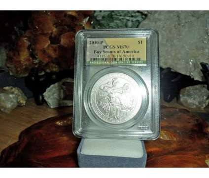 Exceptional 2010-P Boy Scouts of America Silver Dollar MS 70 PCGS Flag Label Lus is a Coins for Sale in New York NY