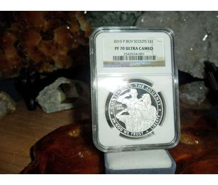 Gorgeous 2010-P Boy Scouts of America Silver Dollar PR 70 Ultra Cameo NGC is a Coins for Sale in New York NY