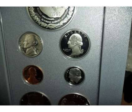 Exceptional United State Mint-Prestige Silver Proof Set-1991-S Mount Rushmore Si is a Blue Coins for Sale in New York NY