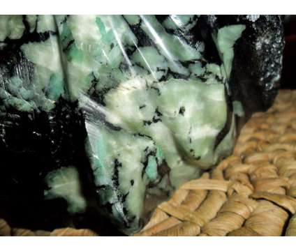 This is a Exceptionally a Beautiful Native Emerald Carving is a Black, Green Collectibles for Sale in New York NY