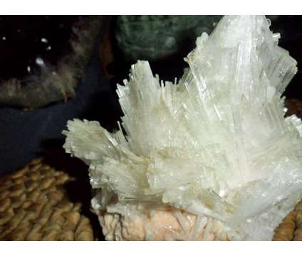 Exceptional, Gorgeous and Beautiful Large Rare Mesolite on Stilbite is a White Collectibles for Sale in New York NY