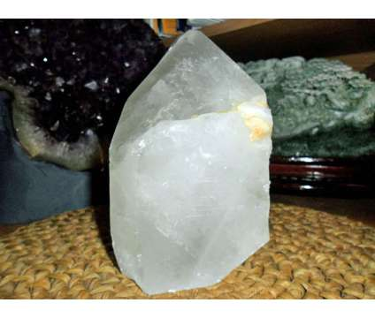 Exceptional and Beautiful Huge Crystal Point with Baby Tabby is a White Collectibles for Sale in New York NY