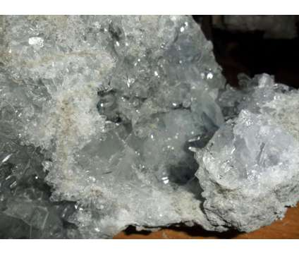 Exceptional and Beautiful Huge Sky Blue Celestite Quartz Geode Crystal Cluster C is a Blue Collectibles for Sale in New York NY