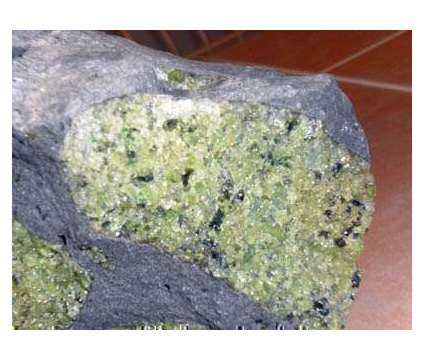 Exceptional and Beautiful Gem Peridot in Balsalt is a Green Collectibles for Sale in New York NY
