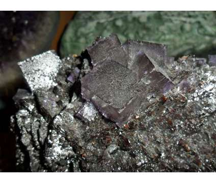 Exceptional Fluorite Crystal and Specularite is a Blue, Green Collectibles for Sale in New York NY