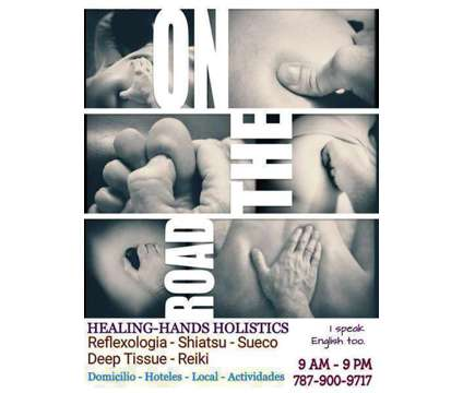 LAST-MINUTE MASSAGE THERAPY by Healing-Hands Holistics is a Massage Services service in San Juan PR