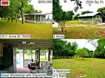 1811 Arvie St - Home for Rent in San Antonio, TX 78253 4/2.5 Amazing country liv