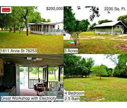 1811 Arvie St - Home for Rent in San Antonio, TX 78253 4/2.5 Amazing country liv at 1811 Arvie St in San Antonio TX is a Single-Family Home