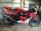 tgi 1994 SUZUKI GSX-R 7/11 RED & BLACK ON WHITE