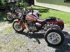 Two 2000 Suzuki Gz-250 Trikes-